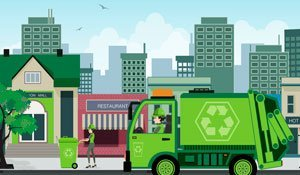 Empresa de coleta e descarte de resíduos