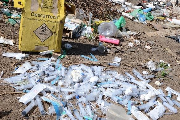 Empresa que recolhe lixo hospitalar
